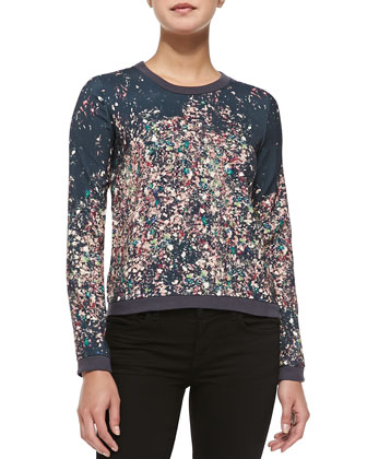 Lee Solid-Trim Printed Sweatshirt
