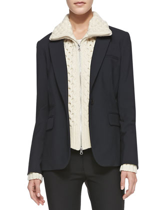 Classic Suiting One-Button Jacket