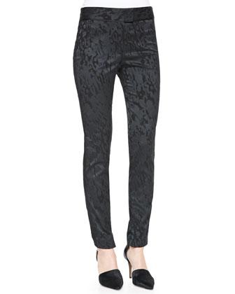 Jacquard Slim Tuxedo Pants