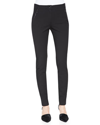 Jersey Seamed Moto Leggings