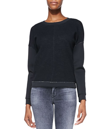 Montana Raw-Edge Contrast Top