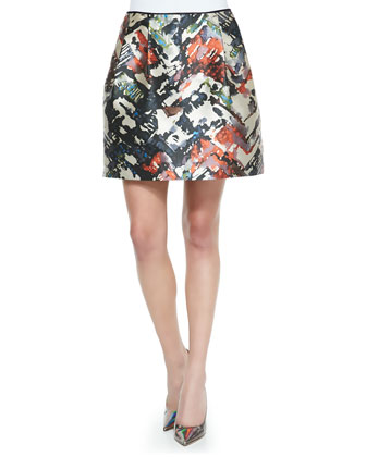 Riley Silk Sleeveless Top & Kris Jersey Printed Skirt