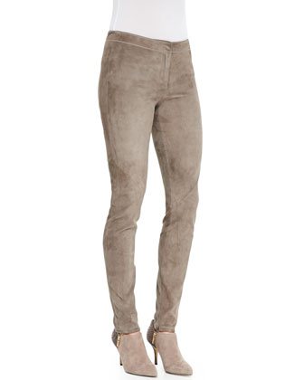 Slim Suede Legging Pants