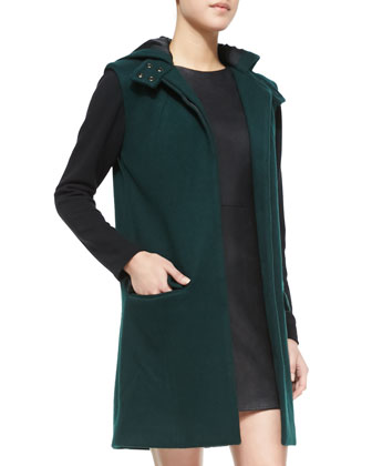Mia Felt Colorblock Hooded Coat