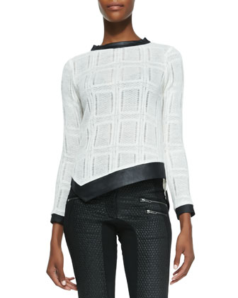 Lola Knit Combo Long-Sleeve Top