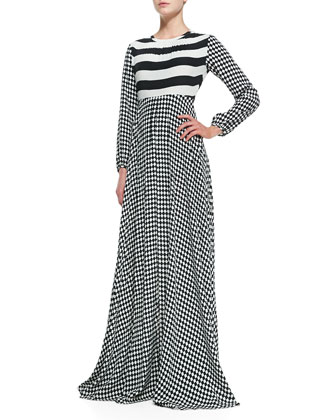 Perfect Storm Long-Sleeve Maxi Dress