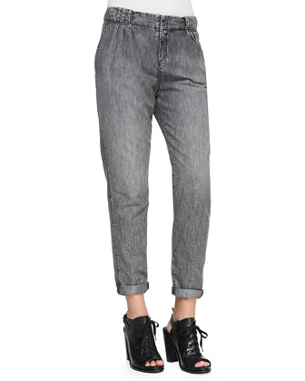 Aberdeen Silver Chambray Trousers