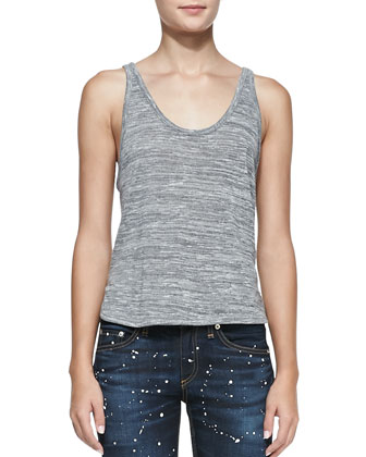 Prema Slub Jersey Tank Top & The Skinny Denim Jeans