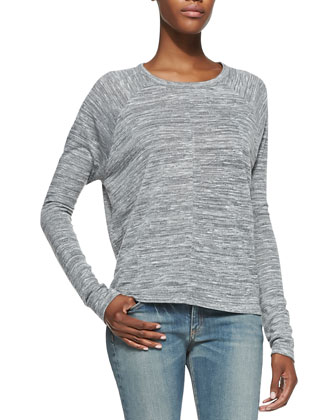 Nicole Jersey Long-Sleeve Tee & The Skinny Denim Jeans