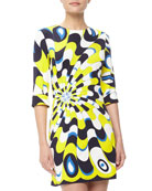 Maggie Mod Printed Dress