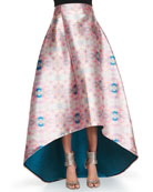 Avalon Printed High-Low Skirt