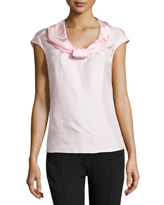 Nuri Sleeveless Silk Shell Top, Light Pink