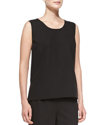 Travel Gabardine Tank, Black, Women's