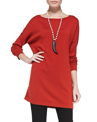 Merino Jersey Long Tunic, Women's