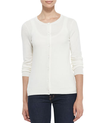 Button-Down Cashmere Cardigan, Women's