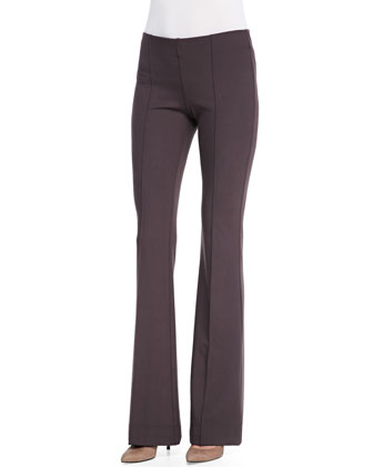 Seamed Flared-Leg Pants