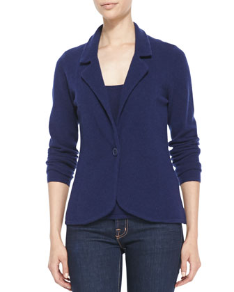 One-Button Cashmere Blazer