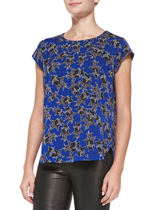 America Short-Sleeve Star-Print Top