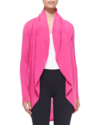 Hayden Cashmere Cardigan, Stretch Ponte Travel Ankle Pants & Silk-Cashmere ...