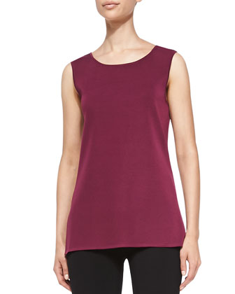 Sleeveless Long Tank, African Violet