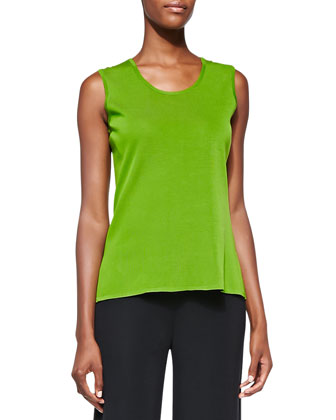 Scoop-Neck Tank, Matisse Green, Petite