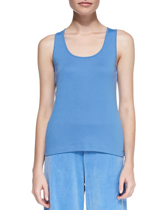 Sleeveless Cotton Tank, Petite