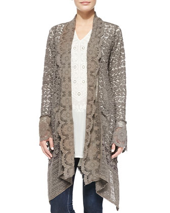 Lacy Crochet Jacket, Women's