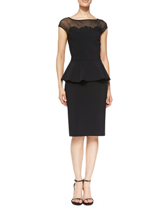 Lucetta Lace Appliqu?? Cocktail Dress