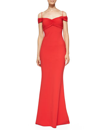 Gardenia Sweetheart-Neck Mermaid Gown