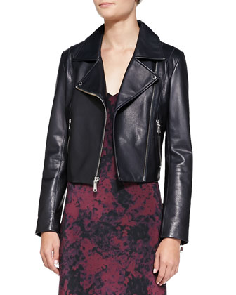 Structured Leather Moto Jacket