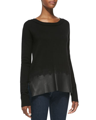 Wool/Cashmere Scoop-Neck Sweater