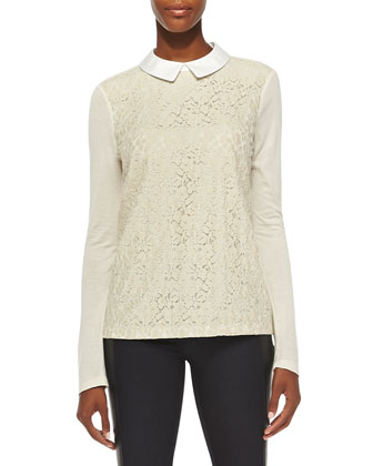 Gabriella Lace/Knit Combo Top