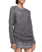 Shawn Wool-Silk Knit Tunic