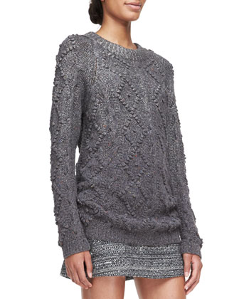 Shawn Wool-Silk Knit Tunic