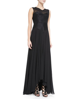 Andie Sleeveless Mille Feuille Gown