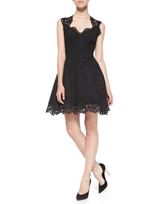 Antilles Scalloped Lace Dress