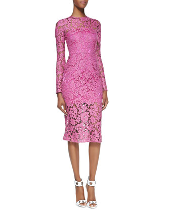 Belarus Long-Sleeve Orchid Lace Dress