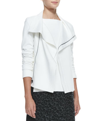 Giant Slalom Draped Knit Jacket