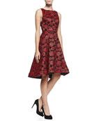 Bailey Rose-Jacquard A-Line Dress