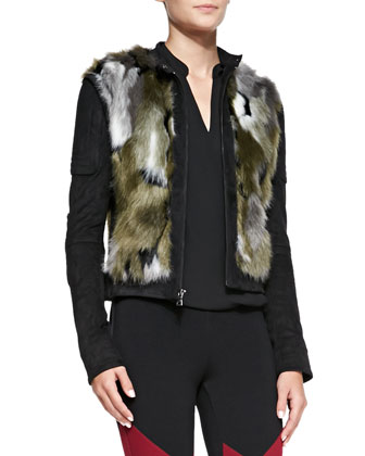 Dimitri Faux-Fur Zip Jacket,