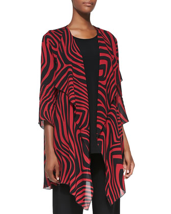 Red Zone Zebra-Print Jacket