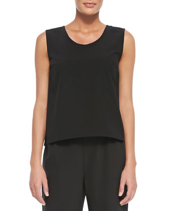 Basic Gabardine Travel Tank, Women's