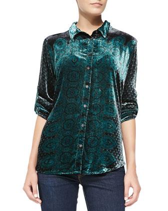 Kelso Rayon/Silk Velvet Blouse