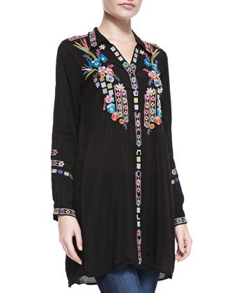 Paradise Georgette Tunic