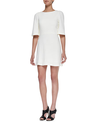 Maely Textured Bell-Sleeve Dress