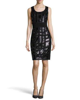 Brooke Beaded Dress, Black