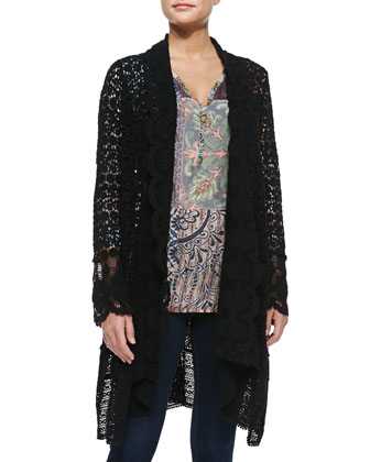 Lacy Cotton Crochet Jacket