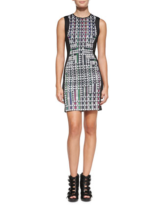 Trinity Solid-Side Printed Dress