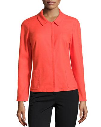 Helen 3/4-Sleeve Pique Jacket, Dayglow