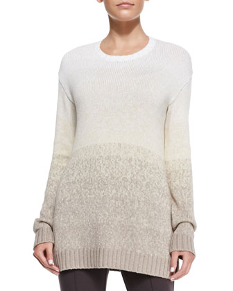 Ribbed Ombre Cotton Sweater